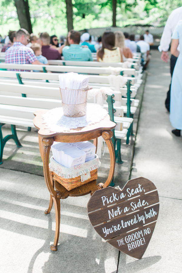 Pick a Seat Not a Side Sign for Wedding Ceremony