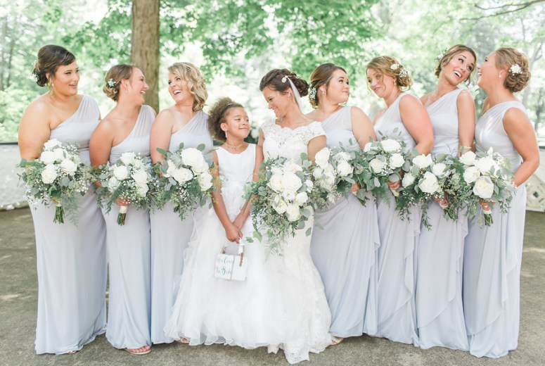 Off the Shoulder Bridesmaids Gowns