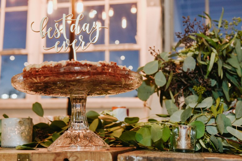 Wedding Pie with Best Day Ever Sign