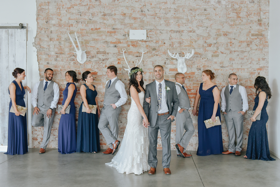 Navy & Gray Bridal Party wedding attire