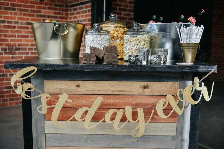 Popcorn Bar at Wedding