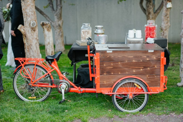 Bicycle Snack Bar at Wedding