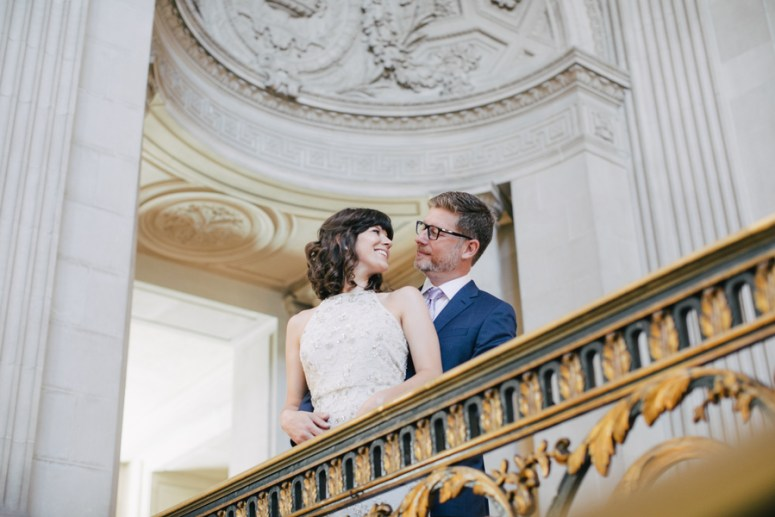 Bride and Groom City Hall Wedding By IQPhoto Stuido