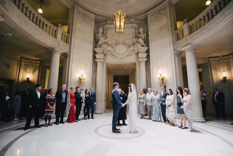 Vows in a City Hall Wedding