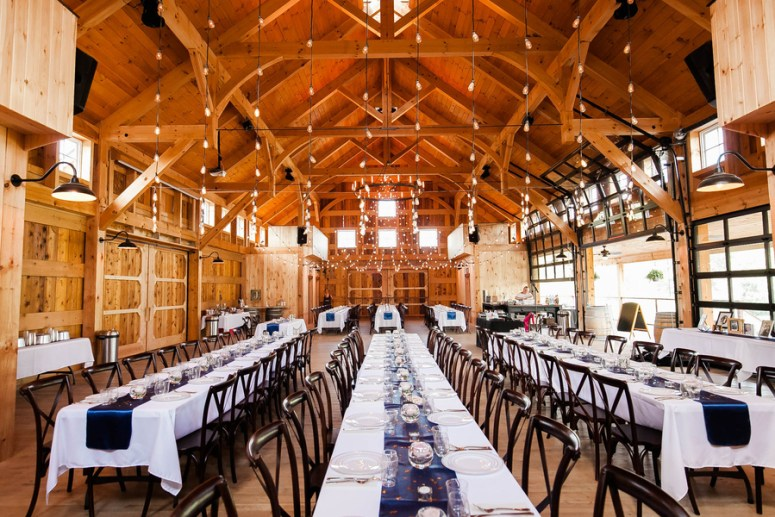 farmhouse seating at barn wedding