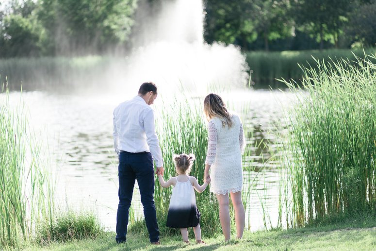 Family Engagement Photo Session by the Lake