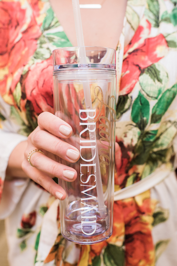 bridesmaid printed water mug