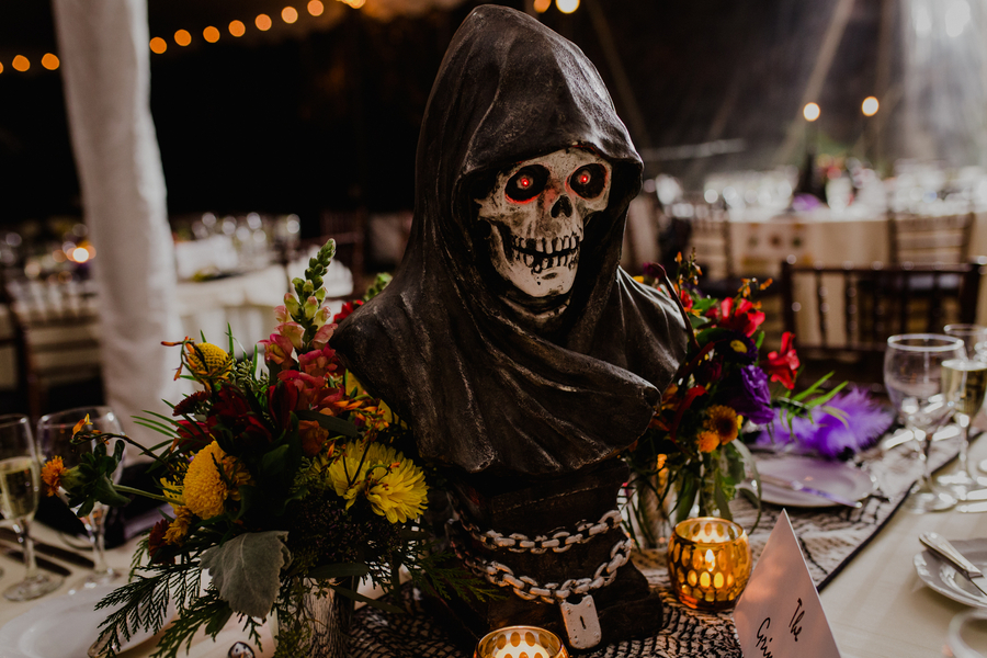 Halloween Themed Wedding At The Greenville Country Club In