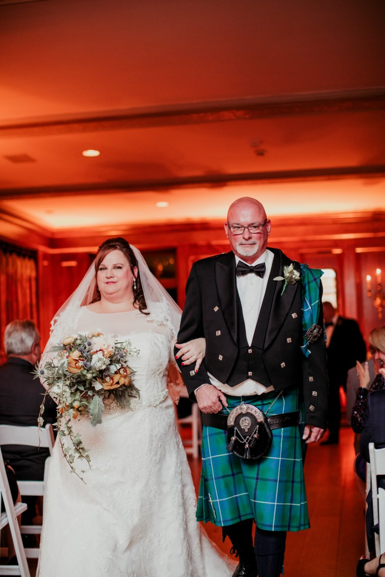 scottish groom wearing tartan