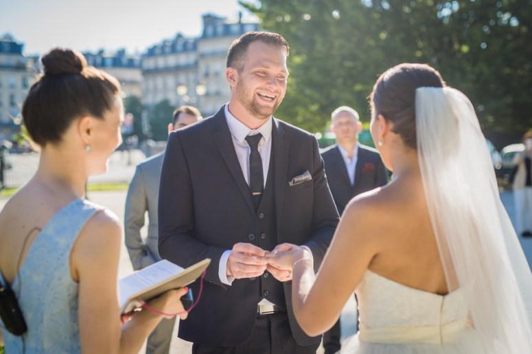 Wedding Ring Ceremony in Paris