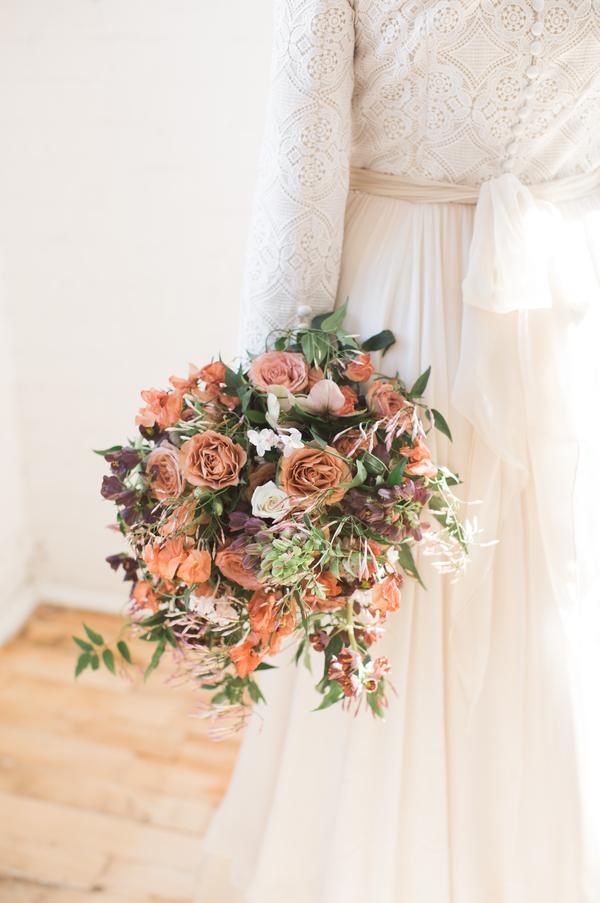 boho wildflower wedding bouquet