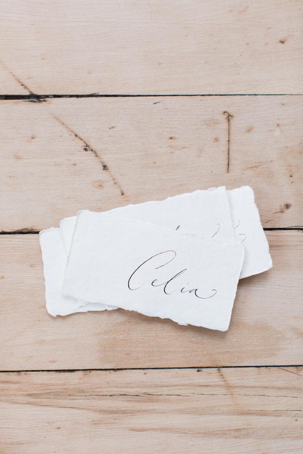 minimalist wedding escort cards