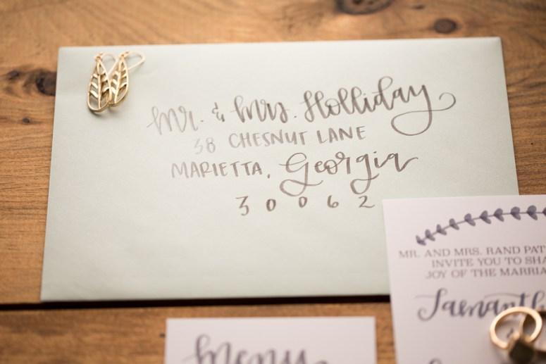 personalized calligraphy wedding invitation