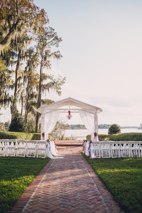 outdoor wedding ceremony Cypress Grove Estate