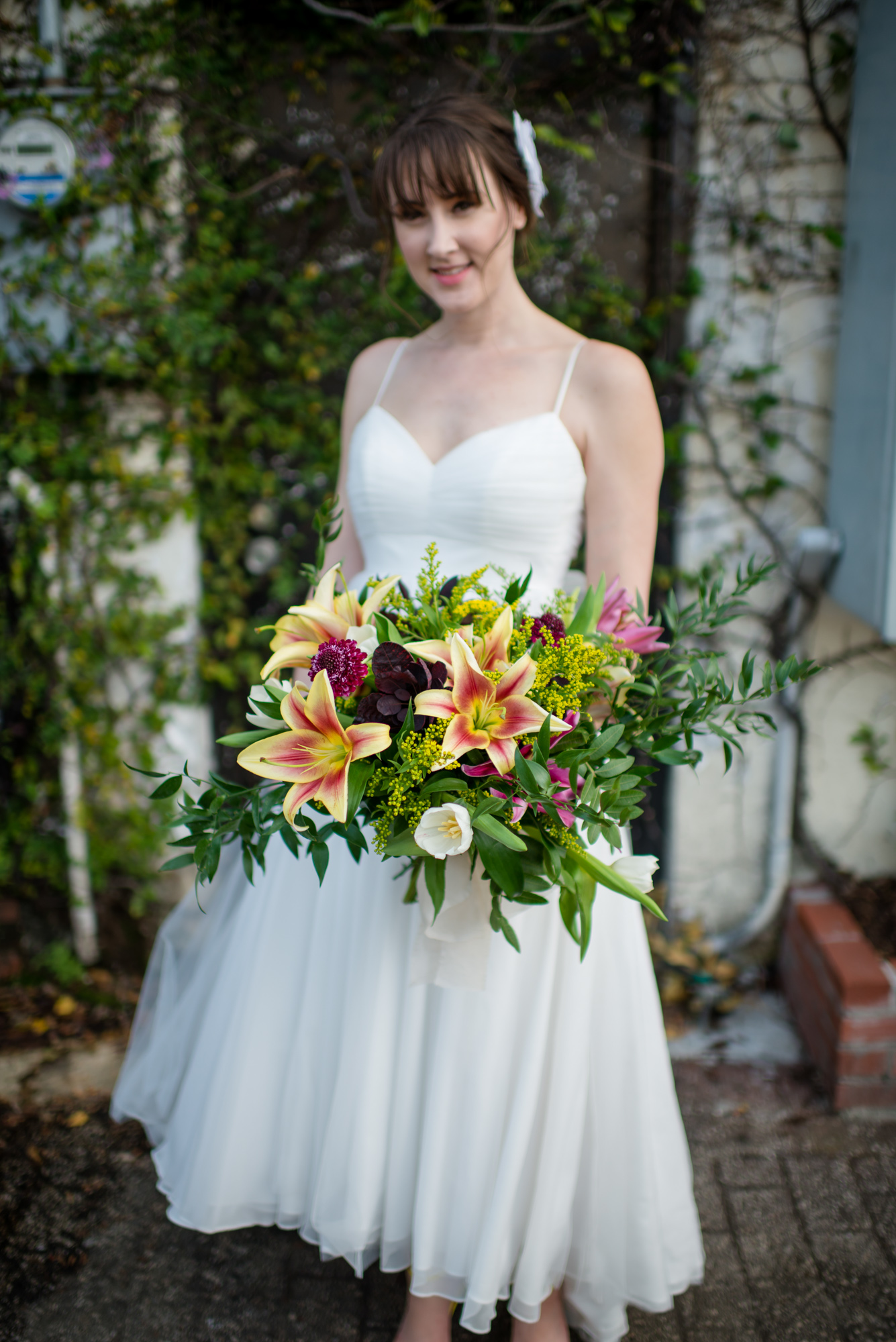 Bridal Bouquet with Orchids