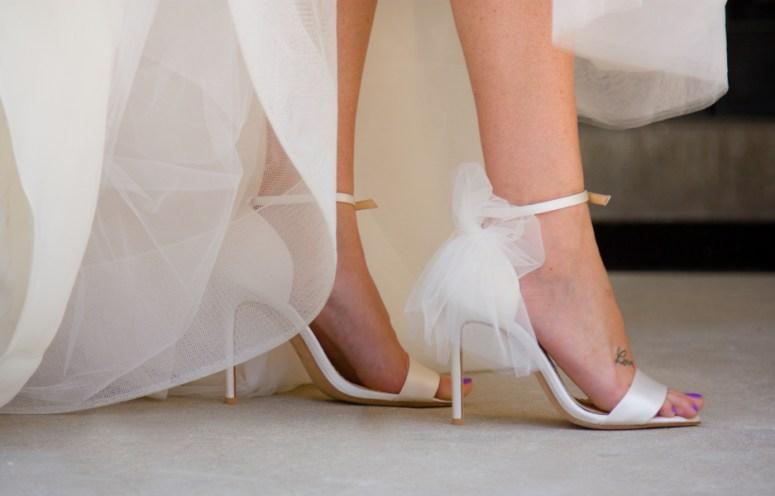 ballerina wedding shoes, cream colored wedding shoes, wedding sandals, wedding shoes with tulle
