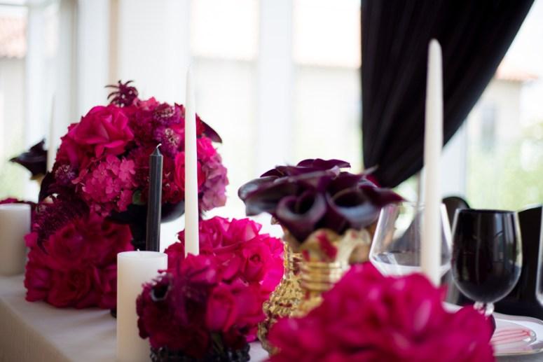 black cala lillies, hot pink wedding, pink and black wedding, ohio wedding, ohio wedding ideas, pink wedding flowers