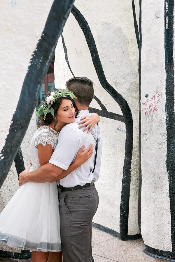 Chicago pop up Wedding, Chicago City Hall Wedding, Short Wedding Dress