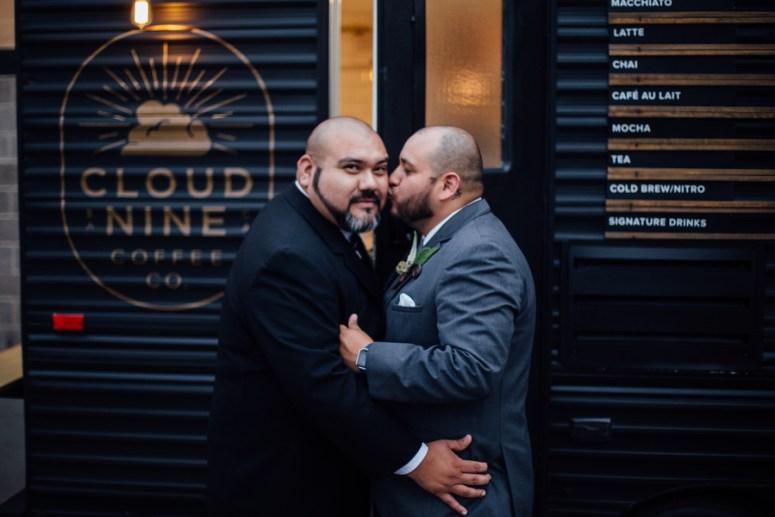 Wedding Portraits at Cloud 9 Coffee Company