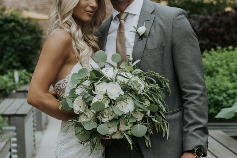 white rose bouquet, large wedding bouquet, wedding portrait