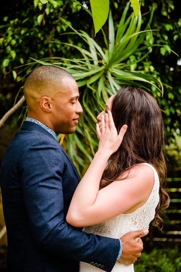 Bride and Groom Intimate Wedding Portraits