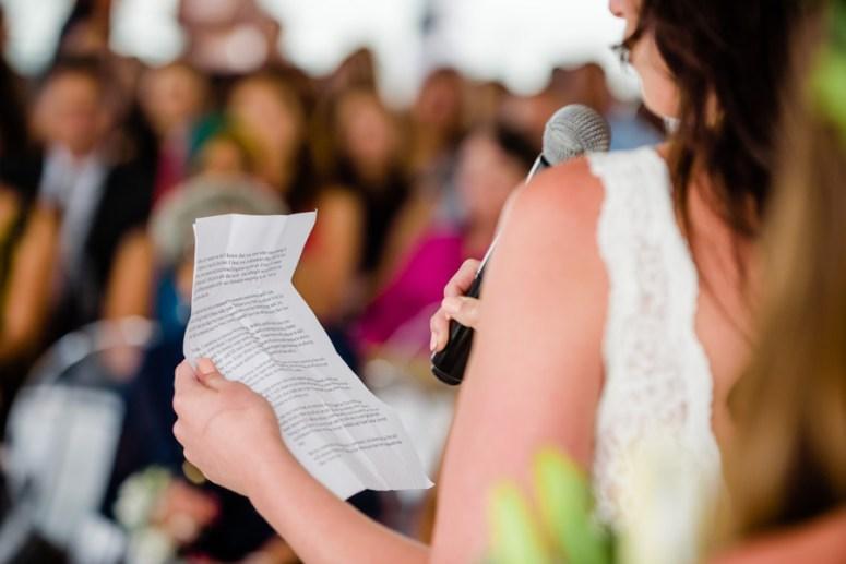 Bride Reciting Personalized Wedding Vows
