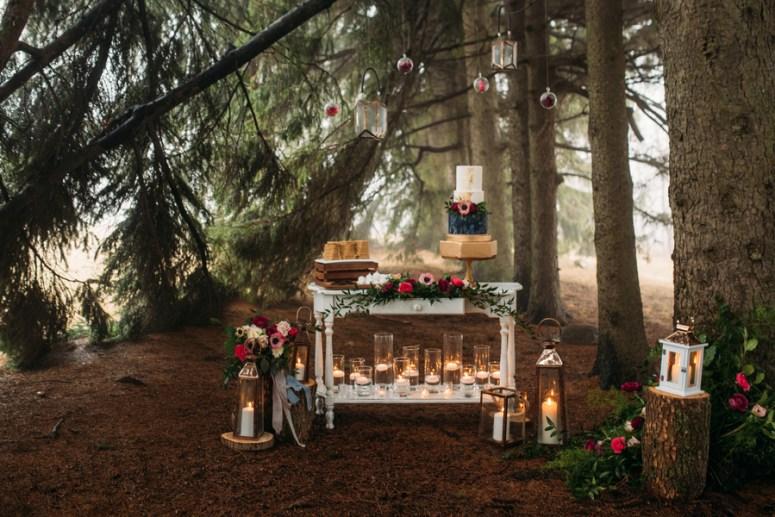 winter wedding, Ontario Wedding, Woodland Inspired Wedding, Lanterns at Wedding