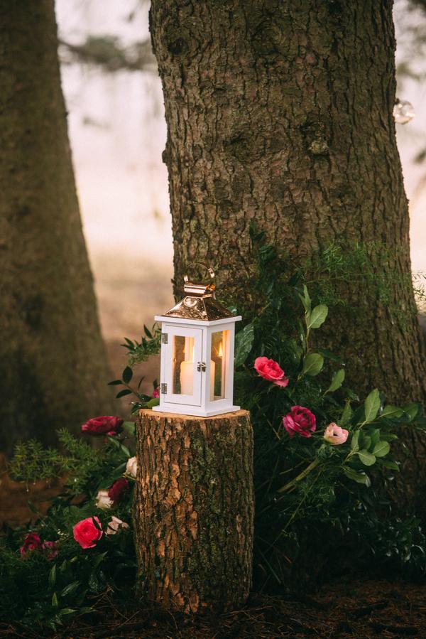 lanters at winter wedding, Ontario Wedding, Woodland Wedding