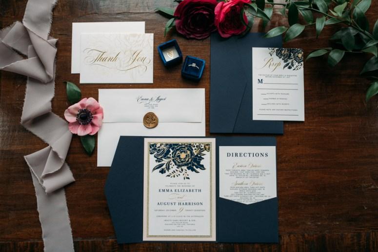 navy blue wedding invitations, winter wedding invitations, blue wedding invitations