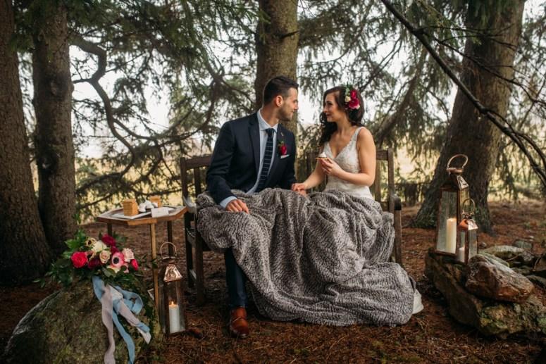 rustic wedding ideas, Ontario wedding, winter wedding ideas, lanterns at wedding