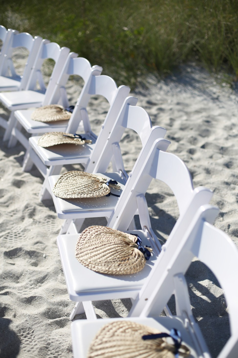 Seating for Beach Wedding Ceremony