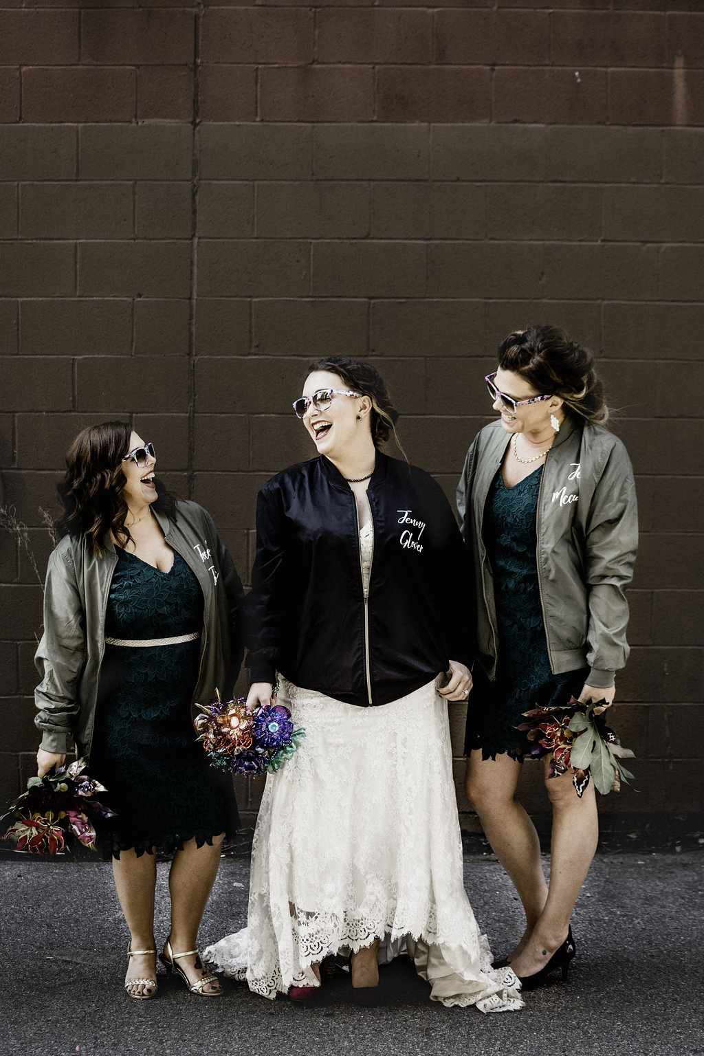Personalized jackets for bridesmaids, Pittsburgh wedding
