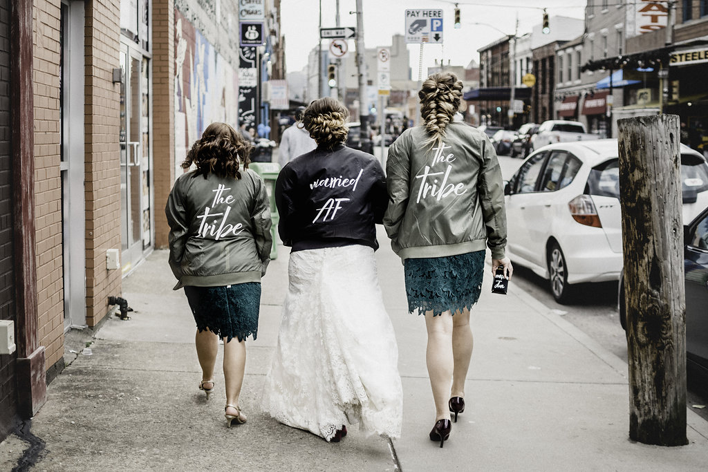 Bridetribe personalized jackets for bridesmaids