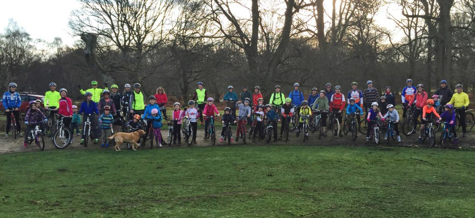 Over 50 riders for our Christmas 2015 Family Fun Ride!