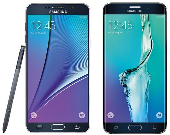 Опубликованы пресс-фотографии и характеристики Samsung Galaxy Note 5 и Galaxy S6 Edge+