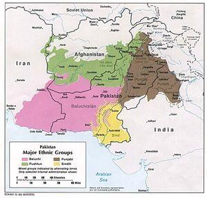 © University of Texas - - Główne grupy etniczne Pakistanu