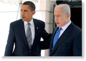 © Unknown - Wspólnicy: Amerykański prezydent Barak Obama (po lewej) i premier Izraela Benjamin Netanjahu (po prawej)