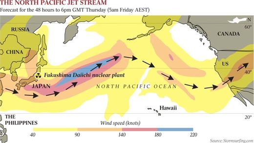 north pacific jet stream