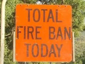 fire ban sign