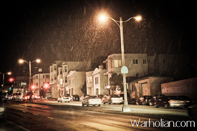 Recordbreaking cold in southern California San Francisco gets 1st snowfall since 1976 San