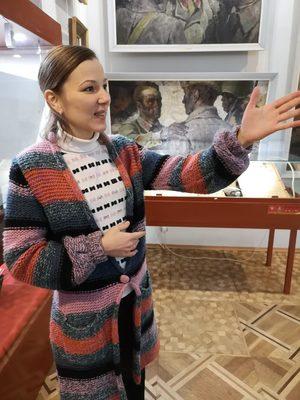 Anna Naumenko at the Kerch museum