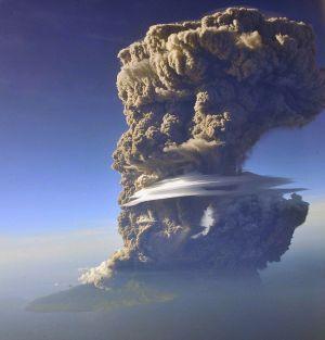 Menacing 12milehigh ash cloud looms over Indonesia's