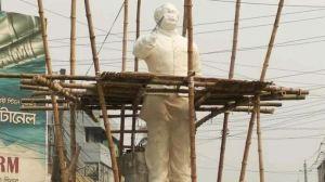 কুষ্টিয়ায় নির্মাণাধীন বঙ্গবন্ধুর ভাস্কর্য ভাংচুর করলো দুর্বৃত্তরা।