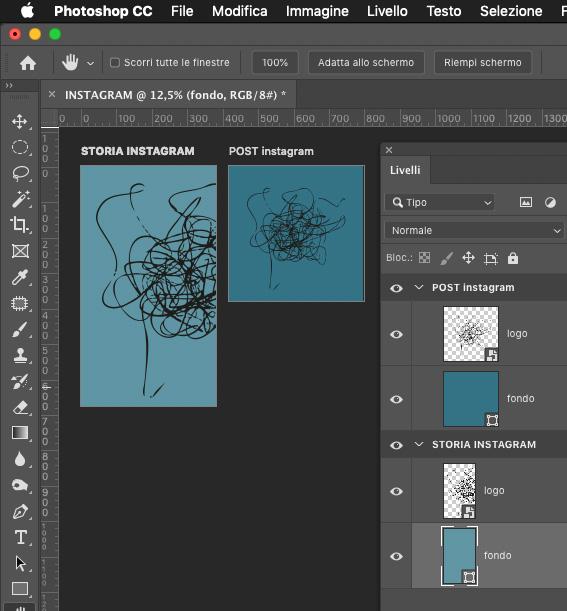 photoshop arboard tavola da disegno social
