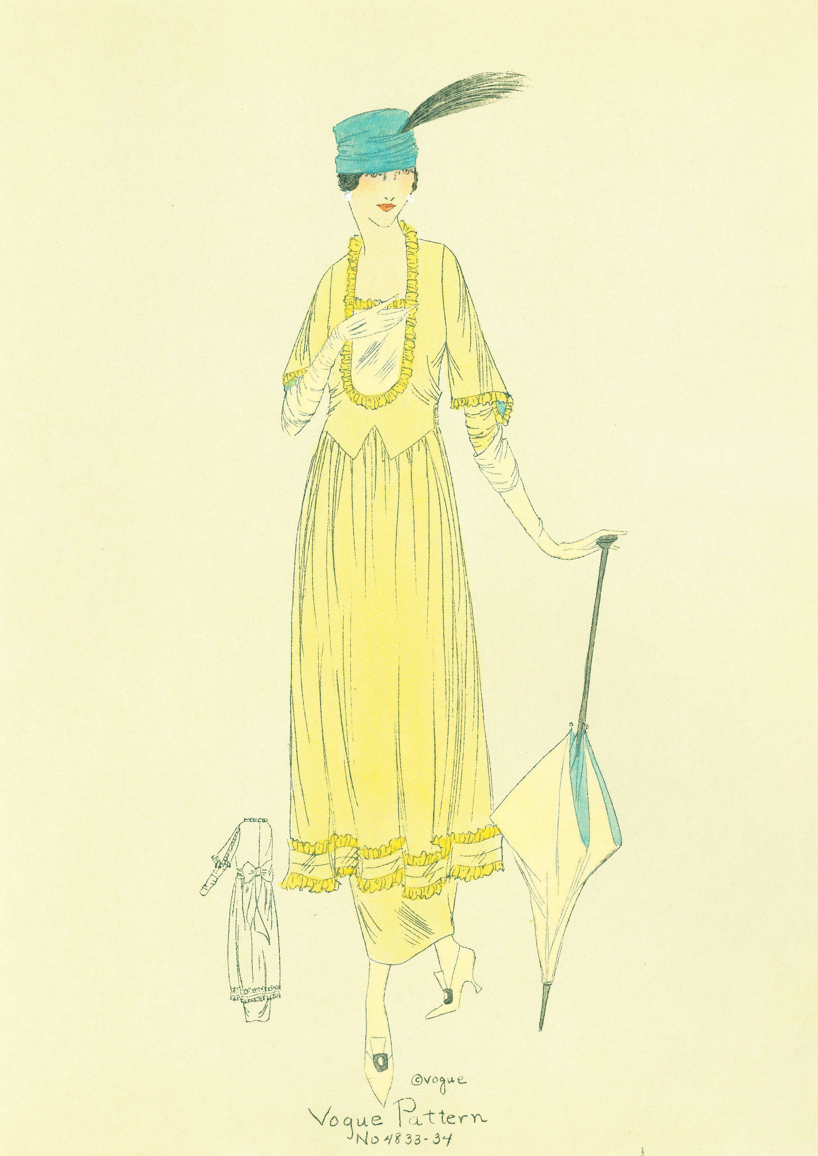 1910s Vogue Patterns  Edwardian Fashion Sketches
