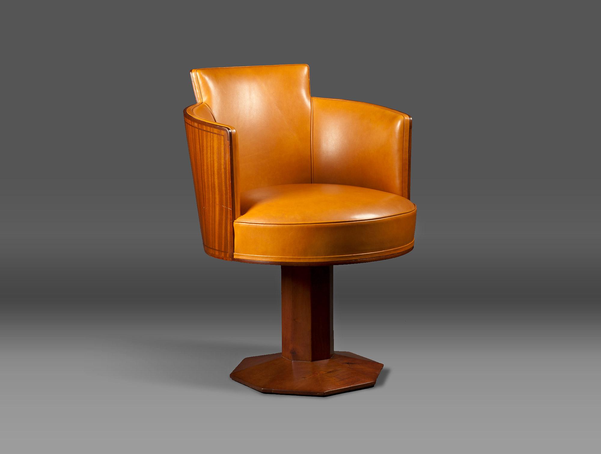 fauteuil de bureau jaune soubrier