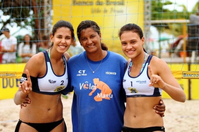 Duda, Cida e Tainá (foto: CBV)