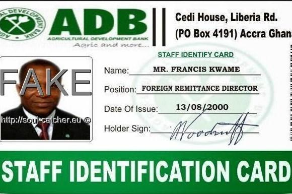 Fake Identity Card with stolen image from Sam Idowu Ayininuola abused by Scammers