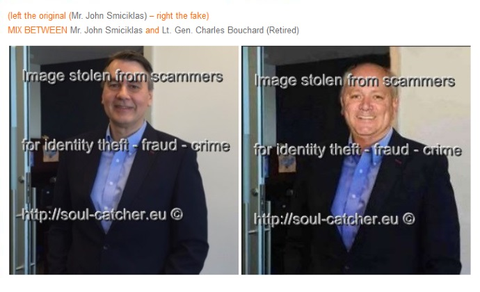 John Smiciklas image abused by Scammer