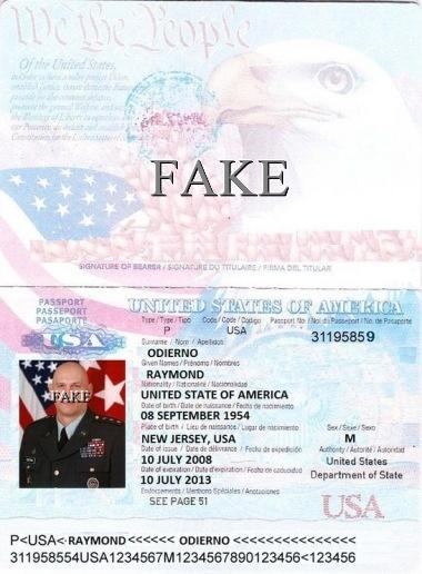 General Raymond T Odierno Passport-2